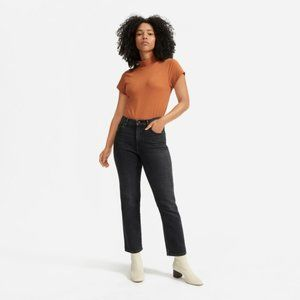 Everlane cheeky bootcut cropped jeans 26 black